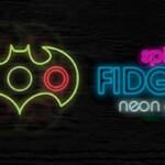 Fidget spinner neon glow 2946
